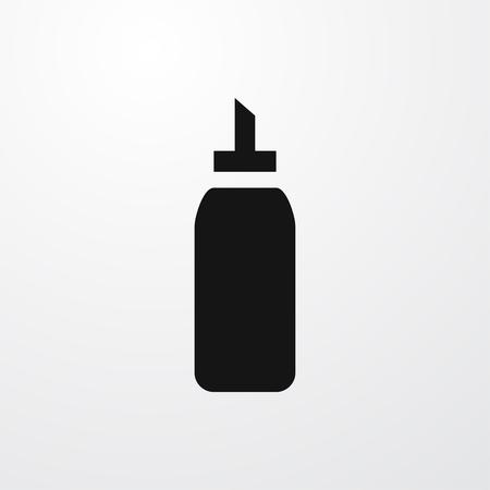 ketchup bottle: ketchup bottle icon illustration isolated vector sign symbol Illustration