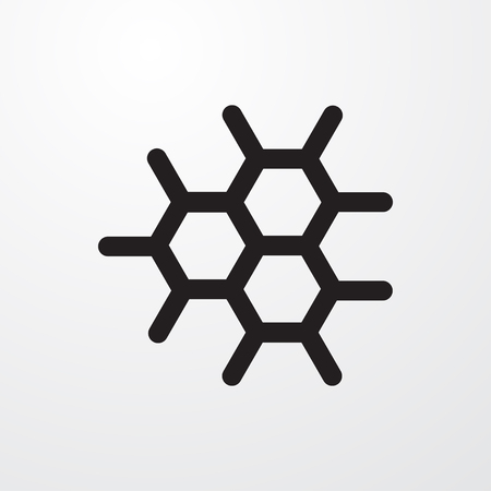 structural formula: chemical structure icon illustration isolated vector sign symbol Illustration