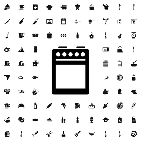 slow food: cooker icon illustration isolated vector sign symbol