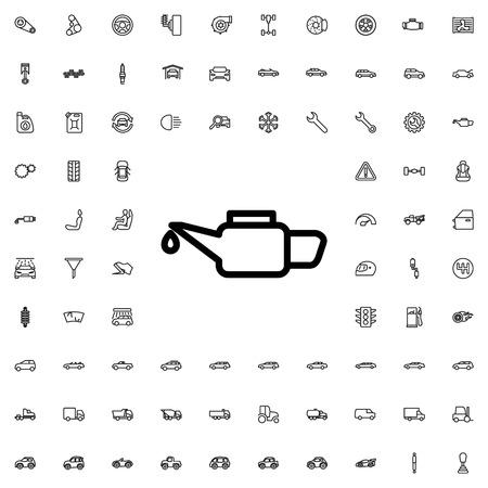 machine oil: machine oil icon illustration isolated vector sign symbol Illustration