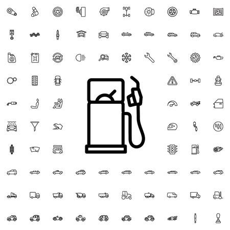 refueling: gas station icon illustration isolated vector sign symbol Illustration