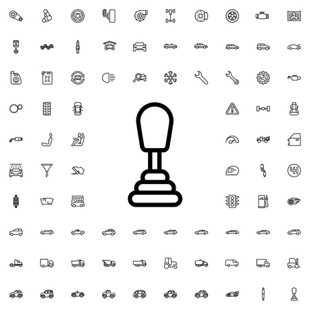 shifter: speed shifter icon illustration isolated vector sign symbol