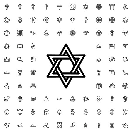 jewish star: Jewish star icon illustration isolated vector sign symbol Illustration