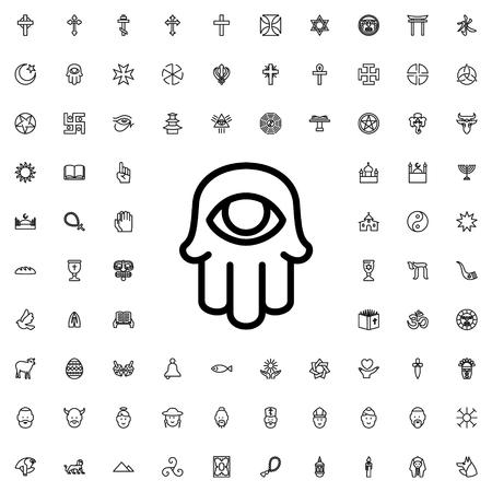religious symbol: religious symbol icon illustration isolated vector sign symbol Illustration