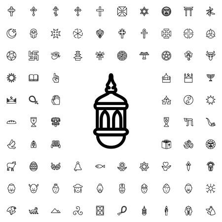 prayer rug: carpet icon illustration isolated vector sign symbol Illustration
