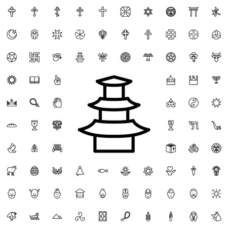 jainism icon illustration isolated vector sign symbol