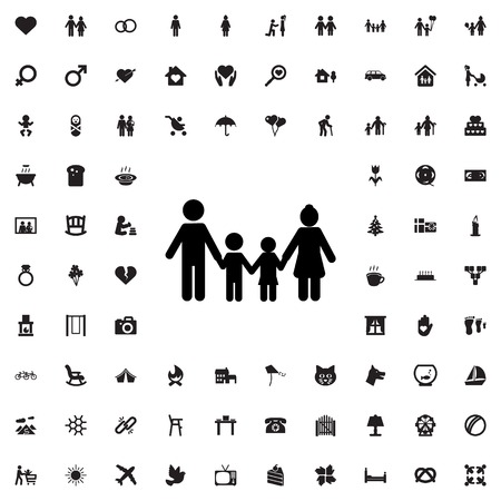 family: family icon illustration isolated vector sign symbol