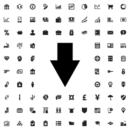 arrow down icon: arrow down icon illustration isolated vector sign symbol
