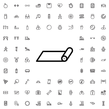 fitness carpet icon illustration isolated vector sign symbol
