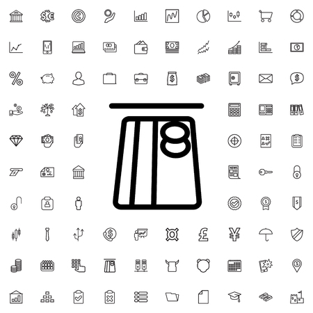 secret code: hand on atm icon illustration isolated vector sign symbol