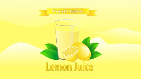 lemon juice with a yellow background