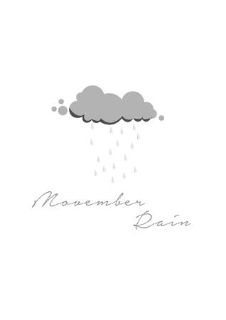 November rain cloud design.