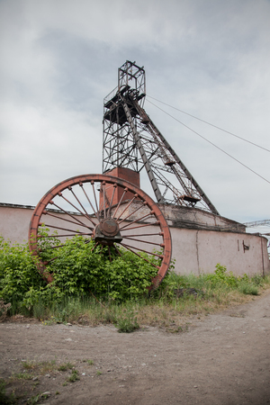 pulley: Pulley wheel from a coal mine