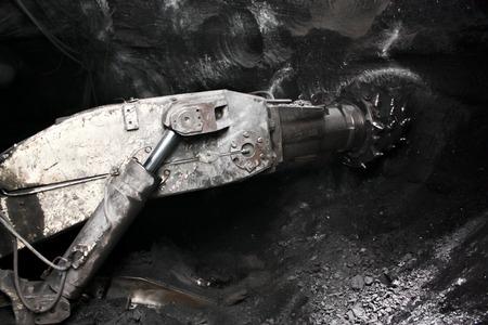 robo: Moderna mina subterr�nea de carb�n en Rusia Foto de archivo