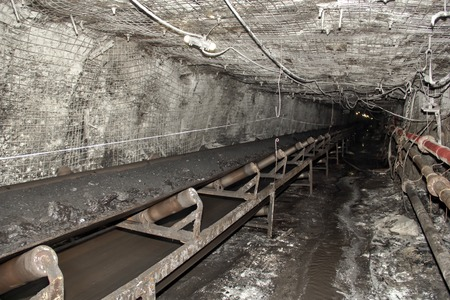 Modern coal mine underground in Russia Stock Photo