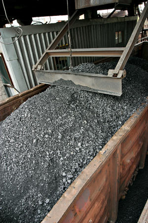 rail cars loaded with coal in Russia