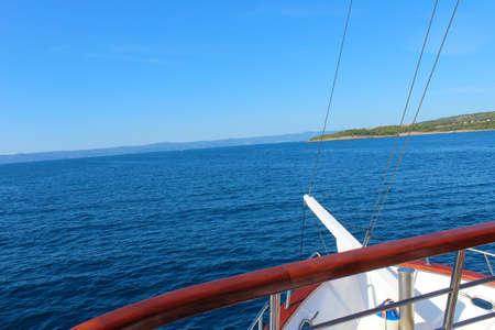 Sea and sky view. Adventure travel concept background. Фото со стока