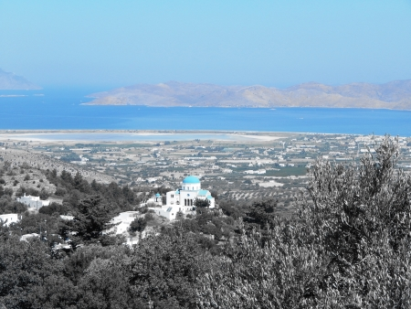 kos: View of Zia Village at Island of Kos Greece