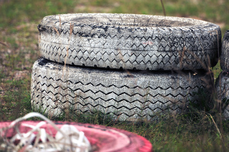 tyre tread: Old tires