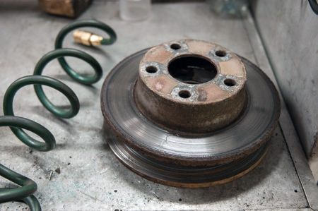 frenos: disco de frenos utilizados Foto de archivo