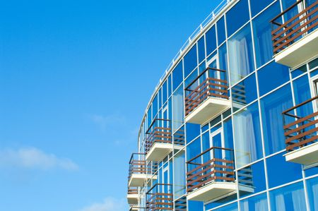 edificio cristal: Detalle del edificio moderno de vidrio