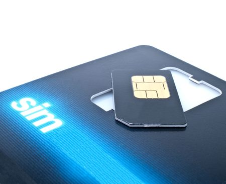 sim card close up view isolated photo