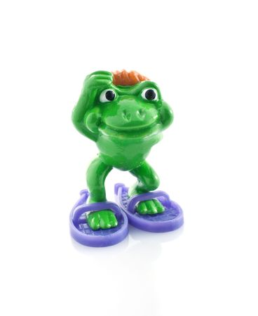 Frog  toy, isolated white background photo