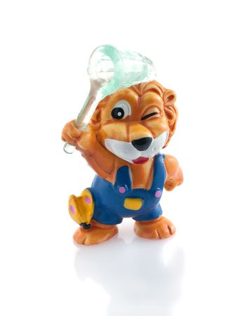 Lion toy, isolated white background Stock Photo - 6948733