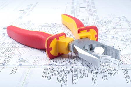 Pliers Tools on diagram  Stock Photo - 7925270