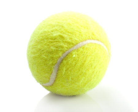 Tennis Ball with white background photo