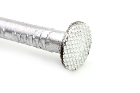 clench: Steel nail isolated over the white background