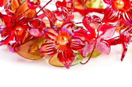 Flowers of red glass  on white background Stock Photo - 13513726