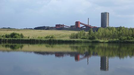 Black coal mine, Orlova Lazy Town, Northern Moravia, Europe, EU Stock Photo