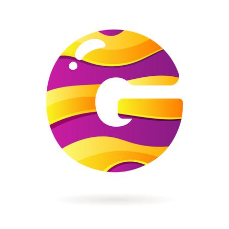 Letter G kleur teken. Vector design template element voor uw toepassing of bedrijf