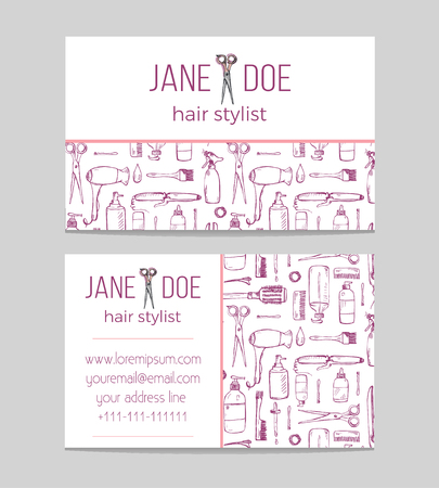 Hair stylish or hairdresser business card template