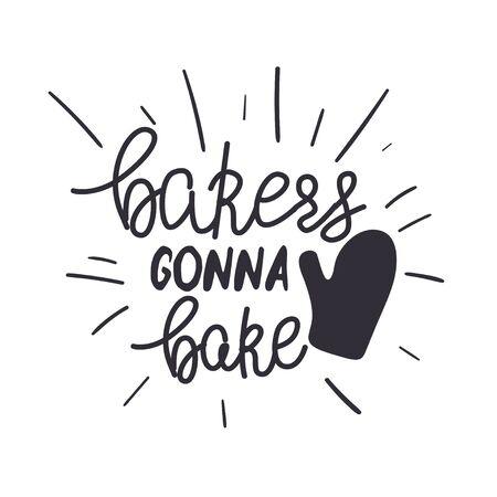 Küchen- oder Restaurantplakatschablone mit lustiger handgeschriebener Phrase.