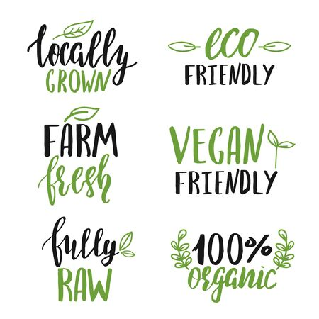 Set of hand lettered food signs