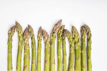 Bunch of fresh green asparagus spears