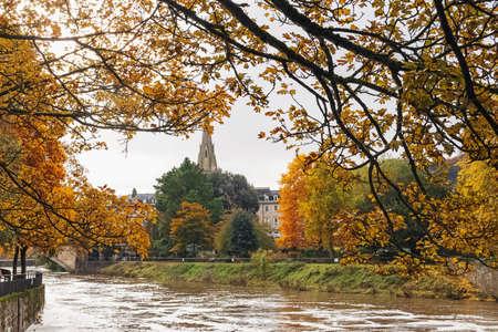 Bath cityscape on autumn day