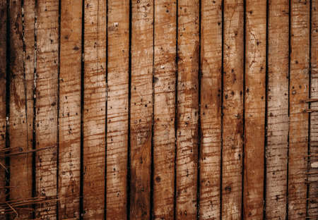 Texture of shabby brown wood background wall