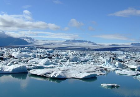 This is Glacier Lagoon (Jokulsarlon) in Iceland, taken: summer 2008 photo