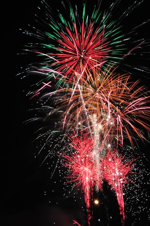 Large fireworks - traditional celebration of New Year. Stock Photo - 6109745