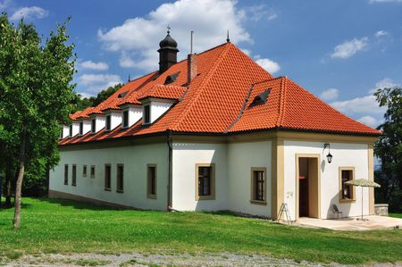 This is a residental house hidden in nature in Brdy forest in Czech republic. Stock Photo - 6208822