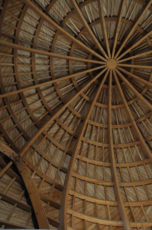 This is a wooden roof from one small old mosque in Amman, in Jordan. Stock Photo - 6345946