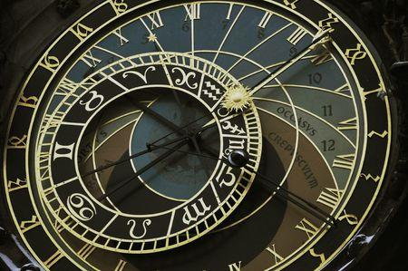 chronologie: Orloj de Prague (Horloge astronomique)  Banque d'images