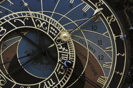 Prague orloj (astronomical clock) photo