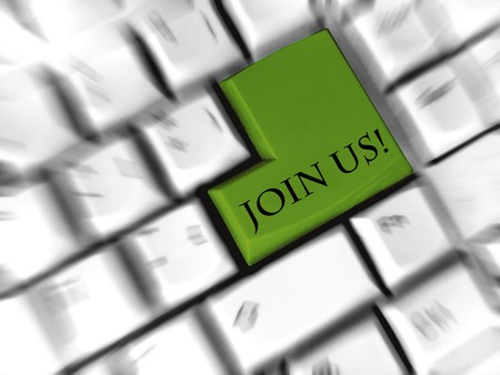 join us - enter sign Stock Photo - 7030964