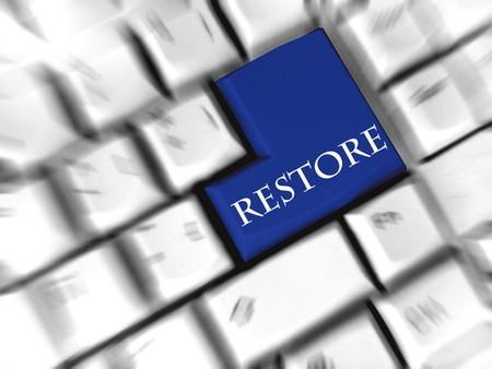 restore: restore - enter sign Stock Photo