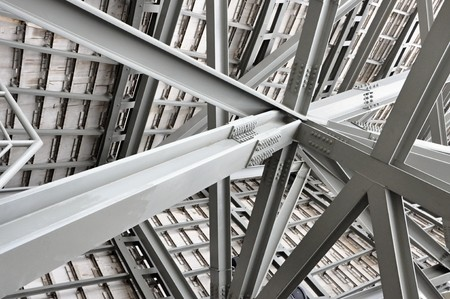 steel beam: Industrial construction Stock Photo