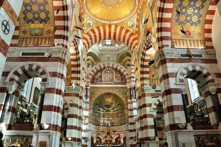notre dame: Inside of Notre Dame de la Garde, Marseille